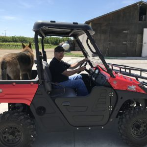 Wayne in his UTV.